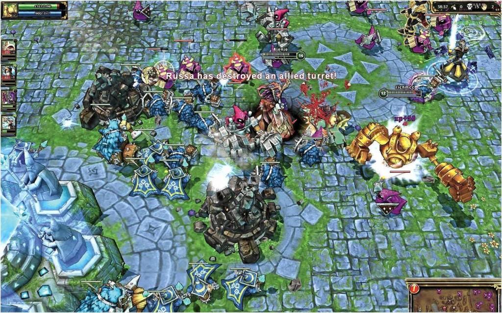 Pre-Nexus destruction chaos in League of Legends.